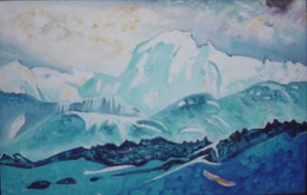 Do. Bold, Mt. Otgontenger, oil on canvas