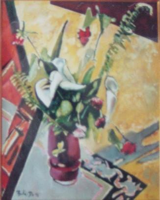 Do. Bold, Naturmorte, oil on canvas
