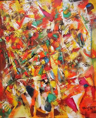 Do.Bold, Composition-AOS, 2017, oil on canvas, 60x50