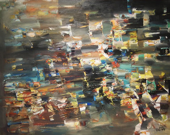 Do. Bold, Grey Composition 2018, oil on canvas, 110x140