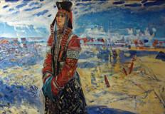 Ya. Oyunchimeg, Gobi of Dreams, oil on canvas