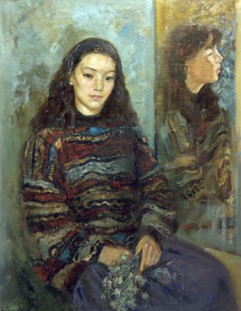 Ya. Oyunchimeg, Daughter's portrait, oil on canvas