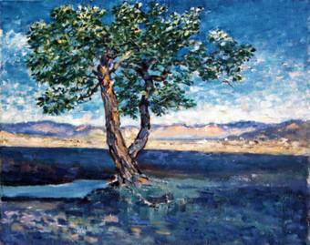 Ya. Oyunchimeg, Landscape, oil on canvas