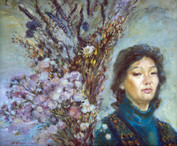 Ya. Oyunchimeg, Selfportrait, oil on canvas