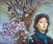 Ya. Oyunchimeg, Selfportrait, oil on canvas