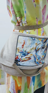 Abstract Art in Fashion, silk painting