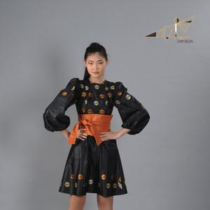Black Saree Silk dress