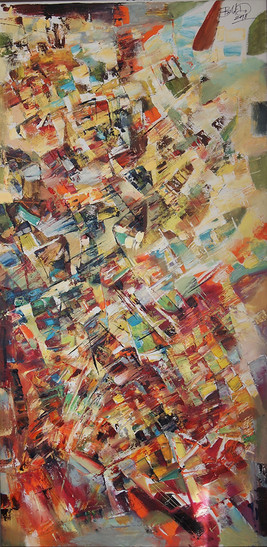 Do. Bold, Composition CAB, 2018, oil on canvas