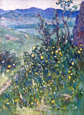 Ya. Oyunchimeg, Summertime, oil on canvas