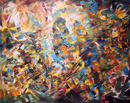 Do. Bold, Composition 2018, oil on canvas, 110x140