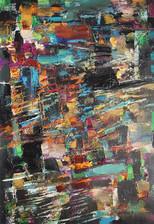 Do. Bold, Black Composition, oil on canvas
