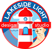 Lakeside Light Design Studio logo selling designer cell phone cases for iPhone and Samsung Galaxy which feature colorful photographs with encouraging and inspiring words