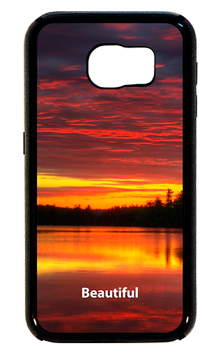 Designer cell phone cases for iPhone and Samsung Galaxy feature colorful photographs with encouraging and inspiring words