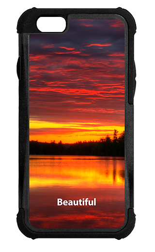 Designer cell phone cases for iPhone feature colorful photographs with encouraging and inspiring words