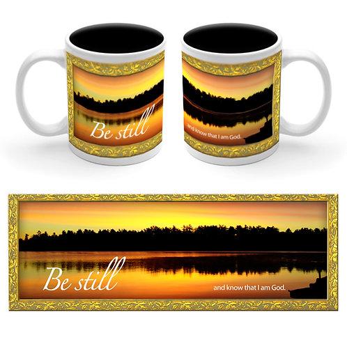 M001C   Be Still Ceramic Mug