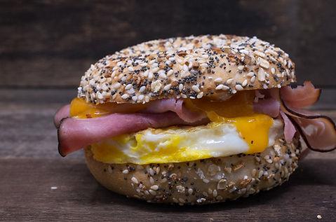 eye opener ham egg cheese bagel