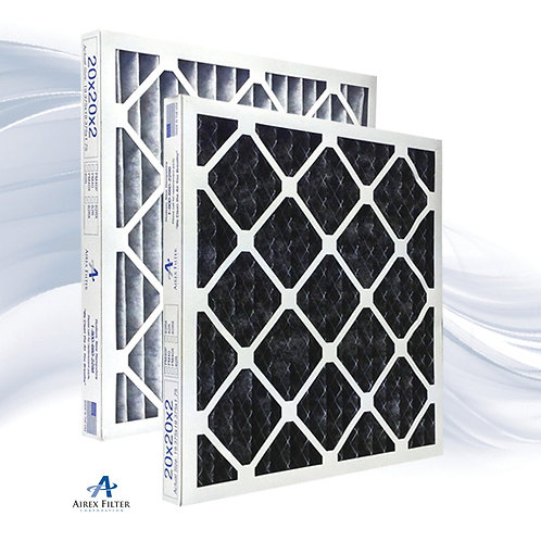Airex 25x25x1 Carbon MERV 8 Pleated AC Furnace Air Filter, Box of 6