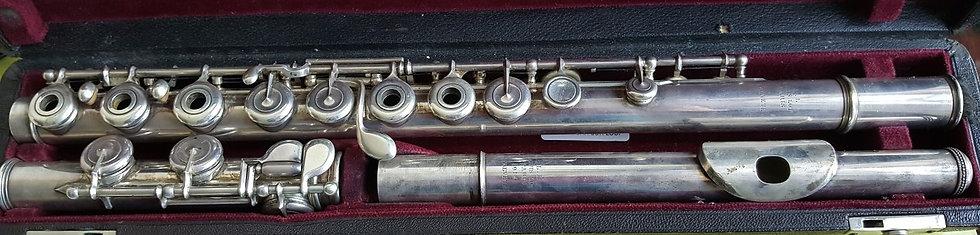Flûte traversière Louis Lot en argent massif #10146