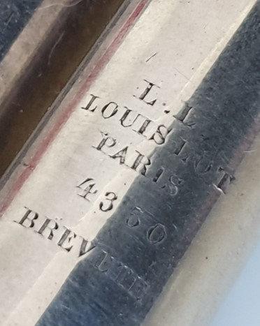 Flûte en métal argenté de Louis Lot no 4350