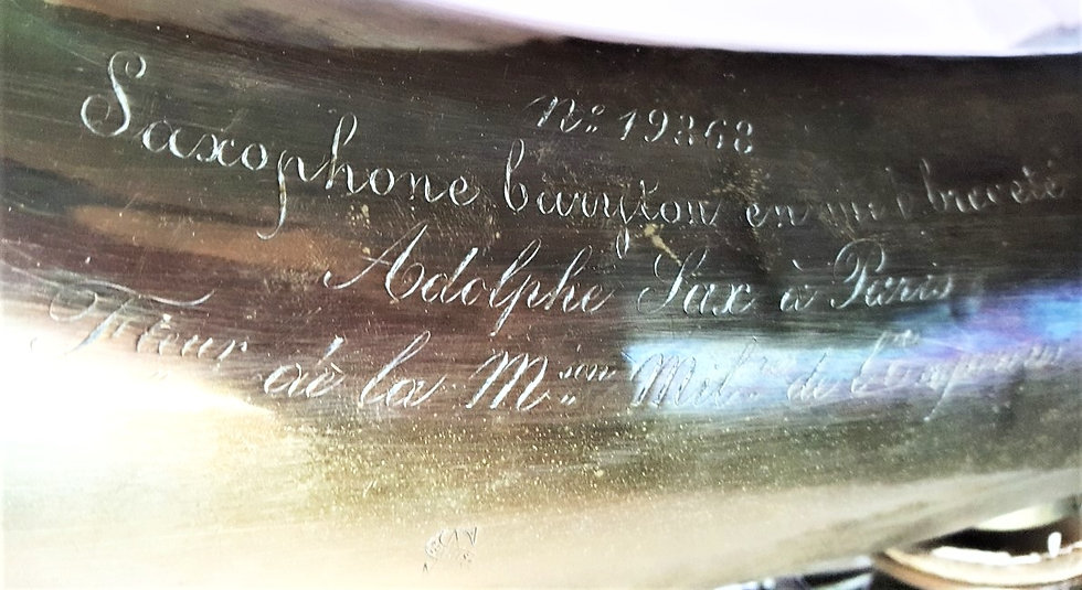 Saxophones Baryton Adolphe Sax # 19.362