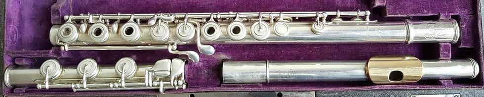Flûte traversière Louis Lot en argent massif Embouchure en Or Patte de Si