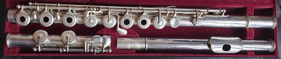 Flûte en argent de Louis Lot no 9136