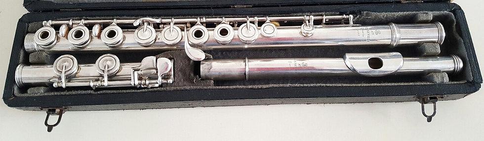 Flûte Traversière Système Boehm Auguste Bonneville en argent massif # 3877