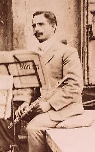 Flûte Auguste Bonneville # 2142 ayant appartenu à Mr Garbies Flûtiste Niçois