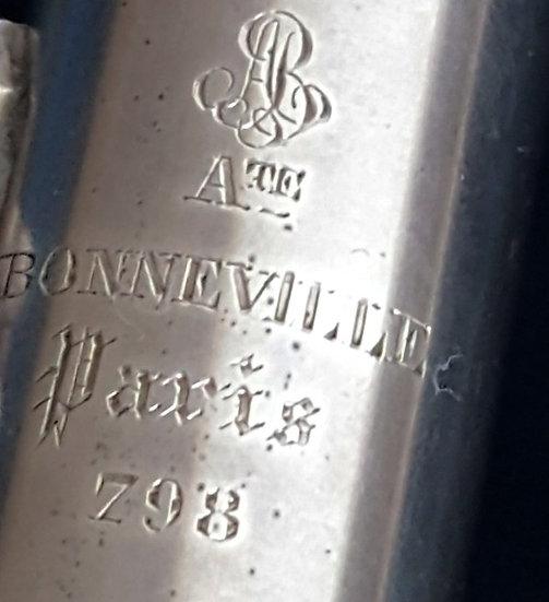 Flûte Auguste Bonneville en métal Argenté no 798
