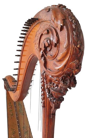 HARPE en bois sculpté du XVIII e siècle