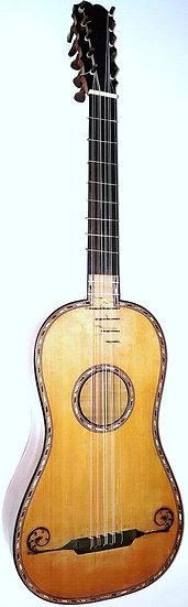 Rare Guitare Baroque par Jean Laurent Mast à Paris de 1780. J.L. Mast Luthier