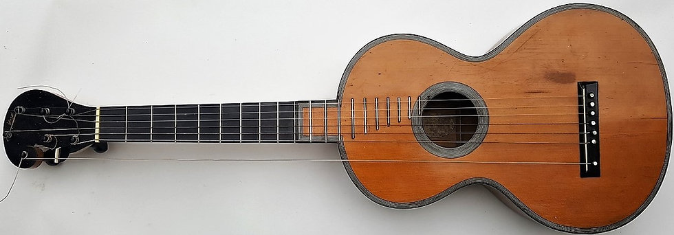 Rare Guitare Heptacorde de René Lacôte.