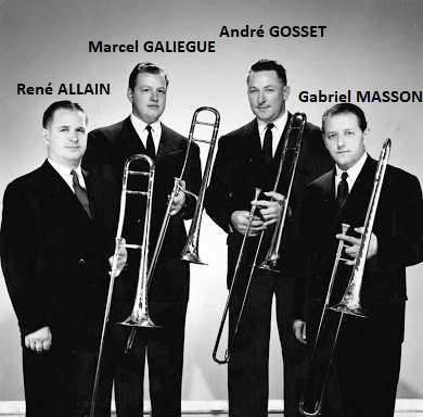 Trombone Courtois Offert à Rene Allain pour son prix en 1948