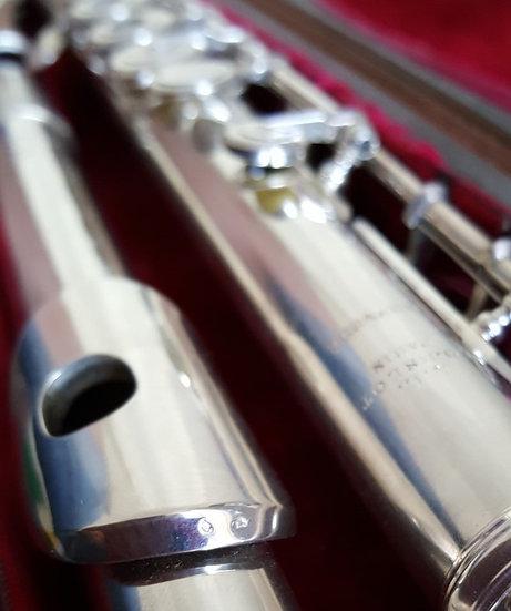 Flûte traversière Louis Lot en argent massif #5040