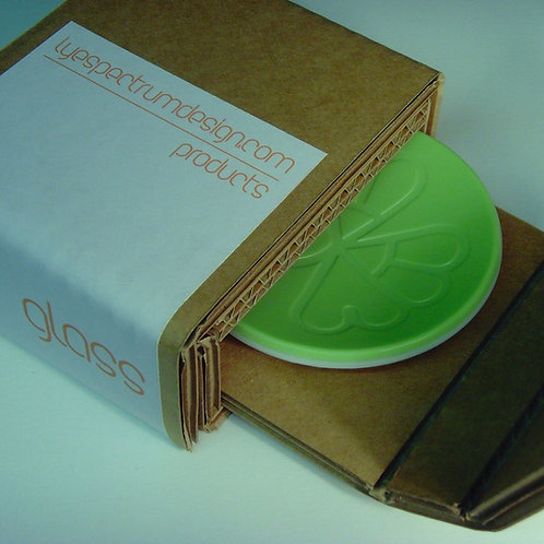 GREEN ROUND OPAQUE GLASS DISH