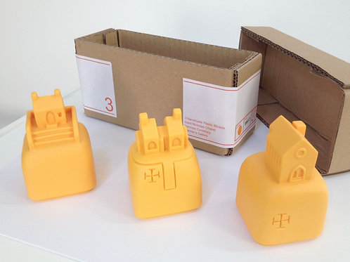 YELLOW/ORANGE LANDMARKS - 2 SETS MADE