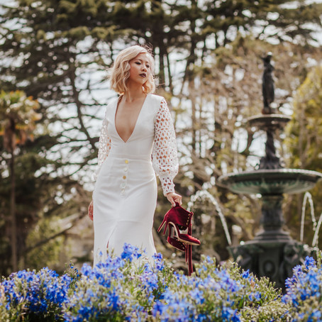 Auckland Bridal Shoot with the Sleek Avenue - Look One