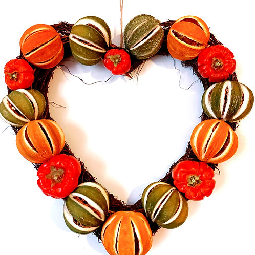 Heart Shaped Dried Fruit Decoration.