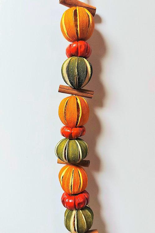 Orange, Green Orange, Pumpino and Cinnamon Garland