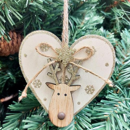 Set of 3 Wooden with Reindeer