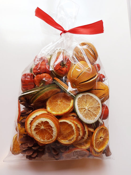 Large Bag of Dried Fruit, Cinnamon & Pine Cones