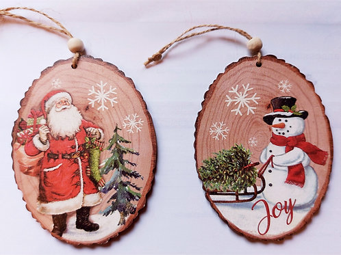 Wooden Set of 2 Tree Hangers