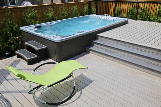 Swim Spa by Hydropool on deck