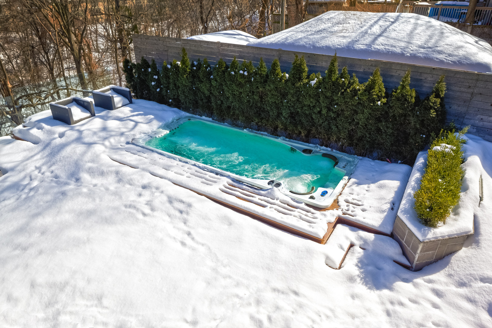 Swim Spa Winter no cover