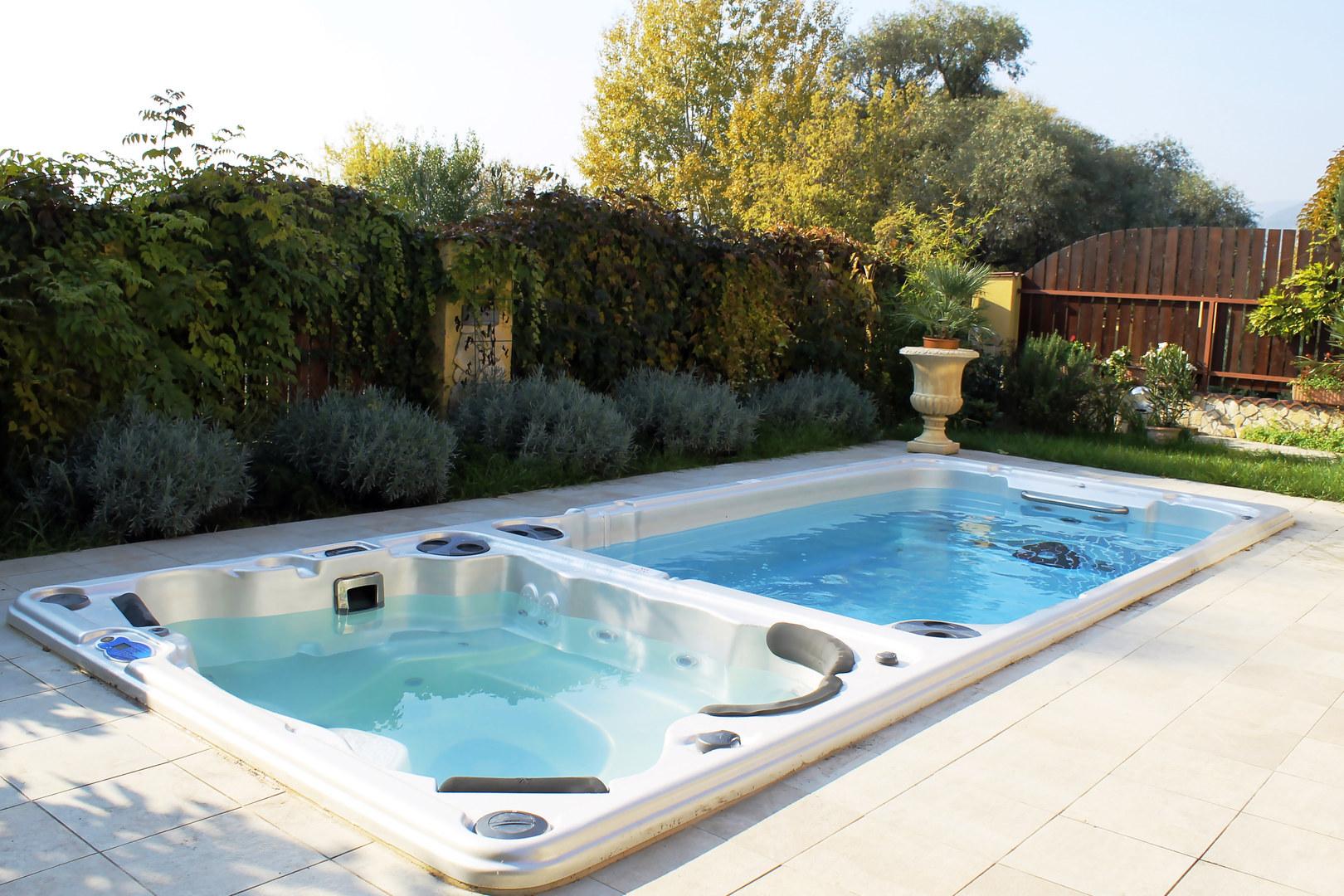 Swim Spa and Hot Tub