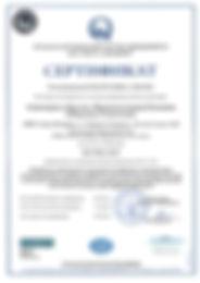 ISO 9001 2015 Сертификат системы менеджм