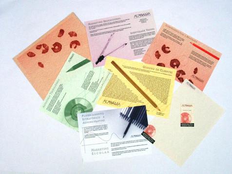 Visual Identity and Folder for Alabama Educational Marketing Consultants