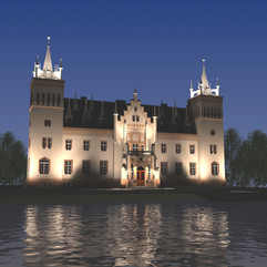 wizualizacja iluminacji pałacu