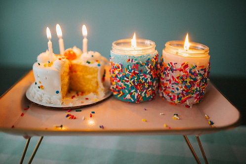 8oz Birthday Cake Candle