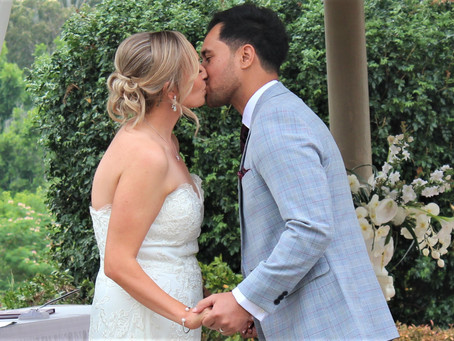 Your first kiss as a newly married couple is a great memory from your wedding day!